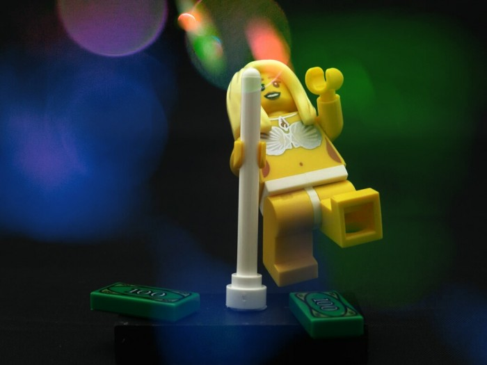 A customised Lego set produced by Citizen Brick is now on sale, featuring a strip club!