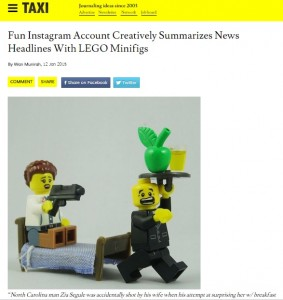Fun Instagram Account Creatively Summarizes News Headlines With LEGO Minifigs