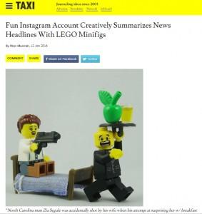 Fun Instagram Account Creatively Summarizes News Headlines With LEGO Minifigs