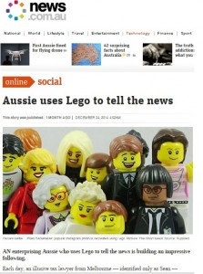Aussie uses Lego to tell the news