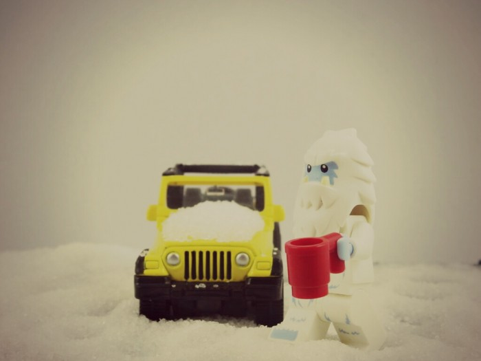 A Yeti has been spotted wandering the streets of Boston during the snowstorm, and has even been seen trying to hail a cab!
