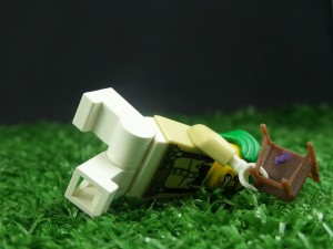 This angry Oompa Loompa collapsed as I took the shot. Check out the colourful blu-tack!