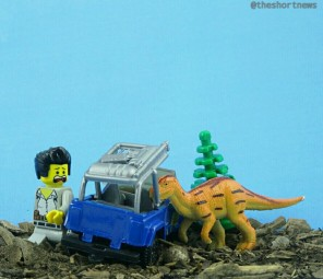 A father and daughter have created a Lego version of Jurassic Park using $100,000 worth of Lego!