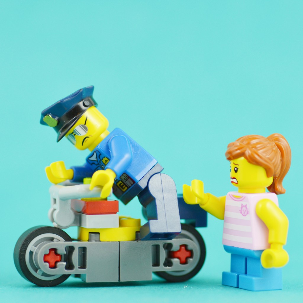 A German police officer jumped on a child's bike to chase down a suspect fleeing on a moped!