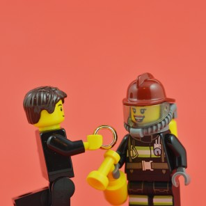 A man called the fire brigade to help him get a ring off his finger, so that he could propose to his firefighter girlfriend.