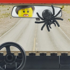 A Portland, Oregon woman ROLLED her car after a spider fell from her rearview mirror while she was driving.