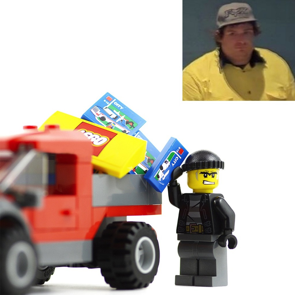 Police wish to speak with a man captured on CCTV, who might be able to provide information in relation to ram raids and Lego thefts in Melbourne.