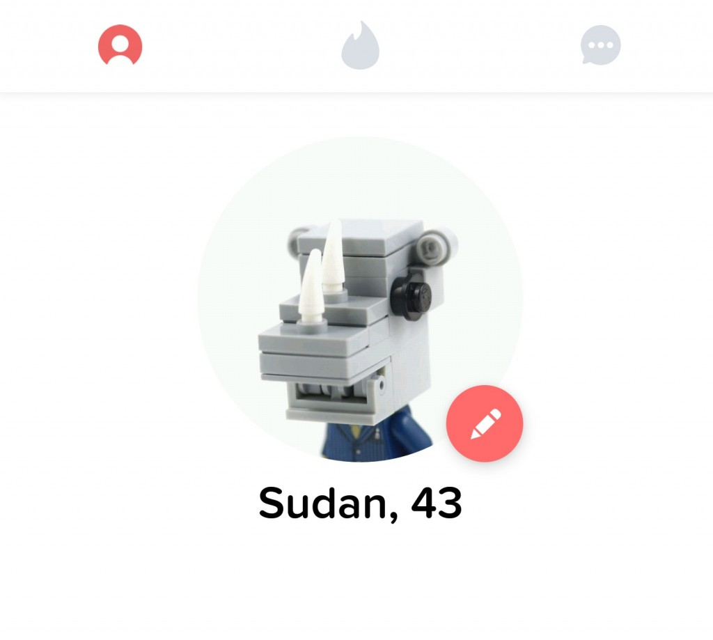 A Tinder account has been set up for Sudan, the world's last Northern White Rhino to help him find a mate and save the species!