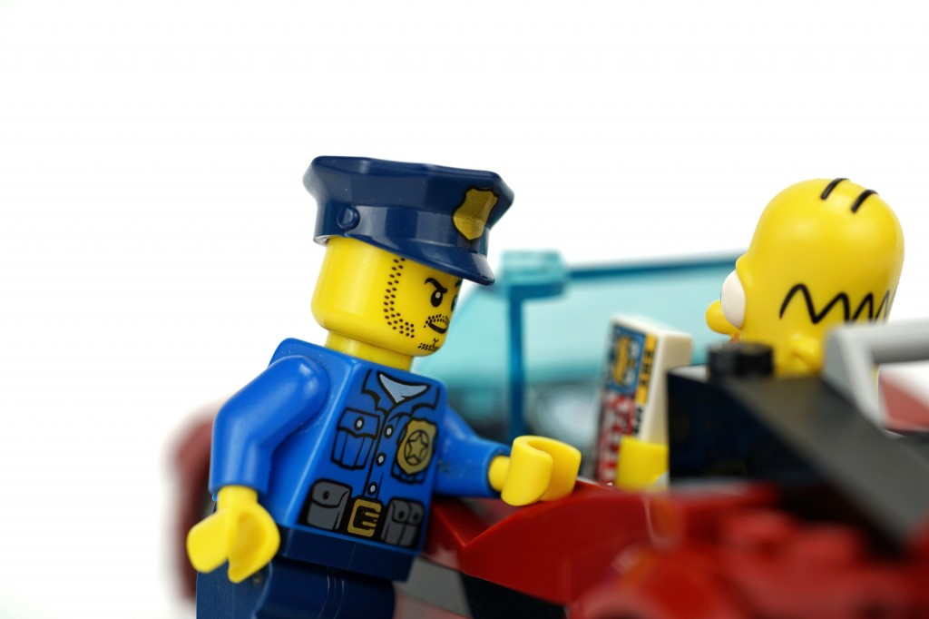 D'oh! When police pulled over a driver in Milton Keynes and asked for ID, they were handed a Homer Simpson licence!